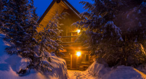 Heliskiing Canada - Blue River Resort at Night